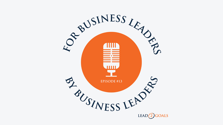 for business leaders by business leaders podcast logo