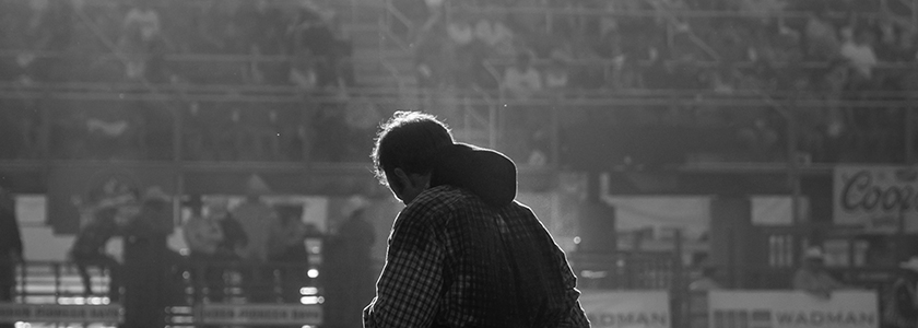 man in the arena alone